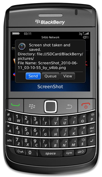 ScreenShot for BlackBerry Version 2.0