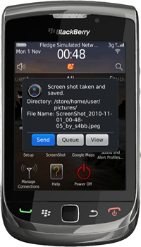 ScreenShot for BlackBerry Version 2.1