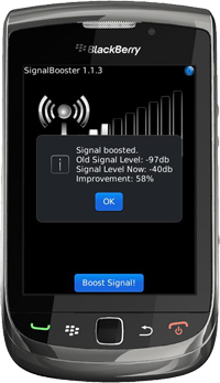 SignalBooster for BlackBerry Version 1.1