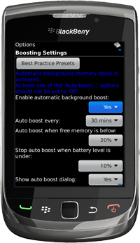 Auto Boosting Settings