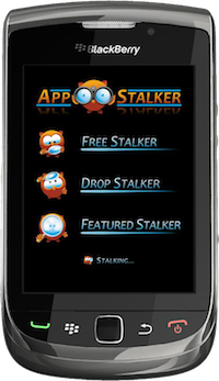 App Stalker for BlackBerry Smartphones - Splash Screen