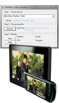 Video Generator for BlackBerry - software screen shot