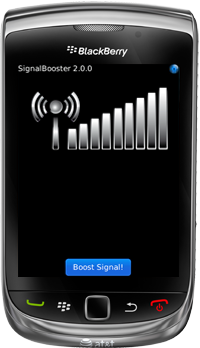 Signal Booster for BlackBerry Smartphones - Boost Menu