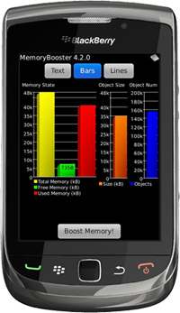 MemoryBooster for BlackBerry - Bar Chart Overview