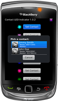 Contact LED Indicator for BlackBerry Smartphones - Choose Contact