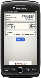 WiFi Monitor for BlackBerry Smartphones