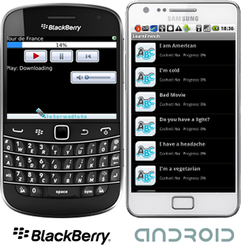Learn French for BlackBerry and Android Smartphones