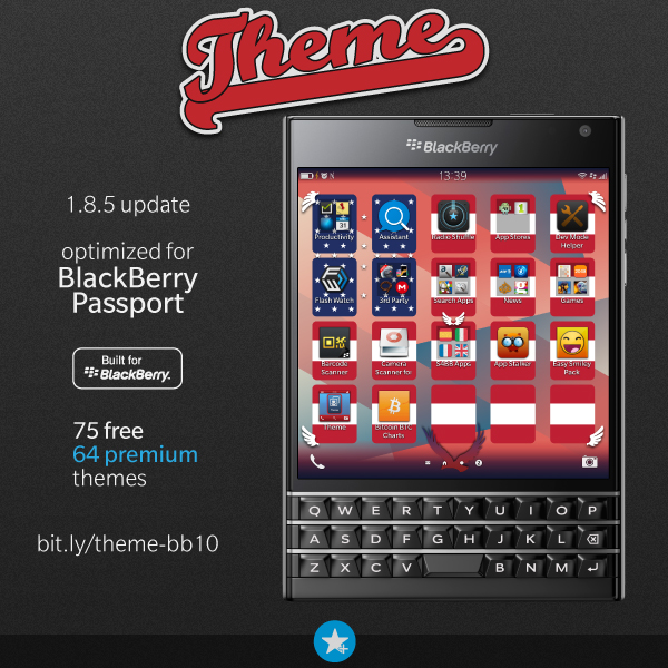 s4bb limited theme now supports blackberry passport. Black Bedroom Furniture Sets. Home Design Ideas