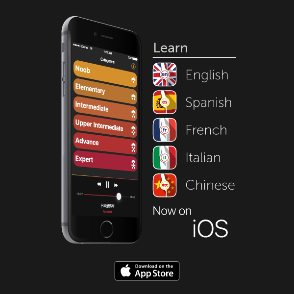 New iOS Apps: Learn English, Spanish, French, Italian and Chinese